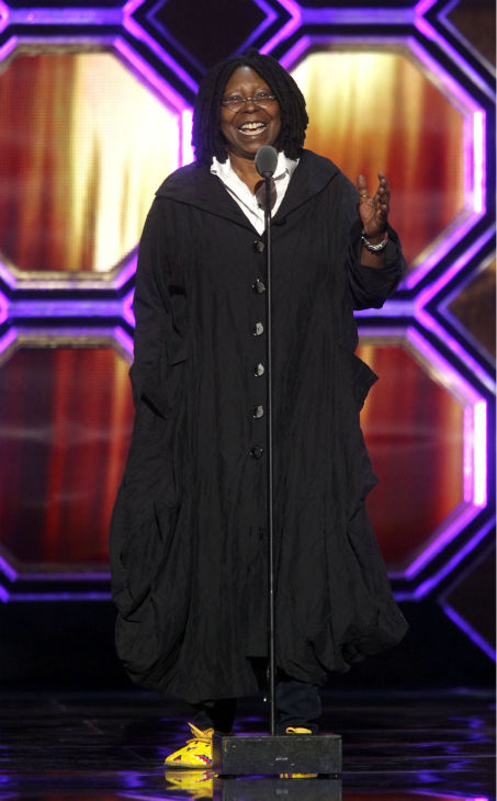 "<div class=""meta image-caption""><div class=""origin-logo origin-image ""><span></span></div><span class=""caption-text"">Whoopi Goldberg appears onstage during the TV Land Awards on April 14, 2012 in New York. (AP Photo / Jason DeCrow)</span></div>"