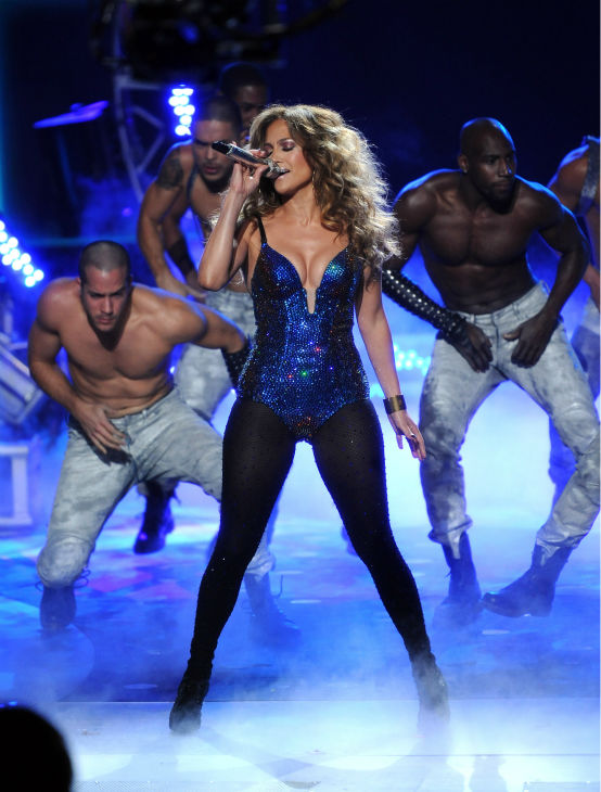 "<div class=""meta ""><span class=""caption-text "">Judge Jennifer Lopez performs during a pre-tape onstage at FOX's 'American Idol' Season 11 Top 4 To 3 Live Elimination Show in Loa Angeles on May 10, 2012. (Frank Micelotta / Invsion / AP)</span></div>"