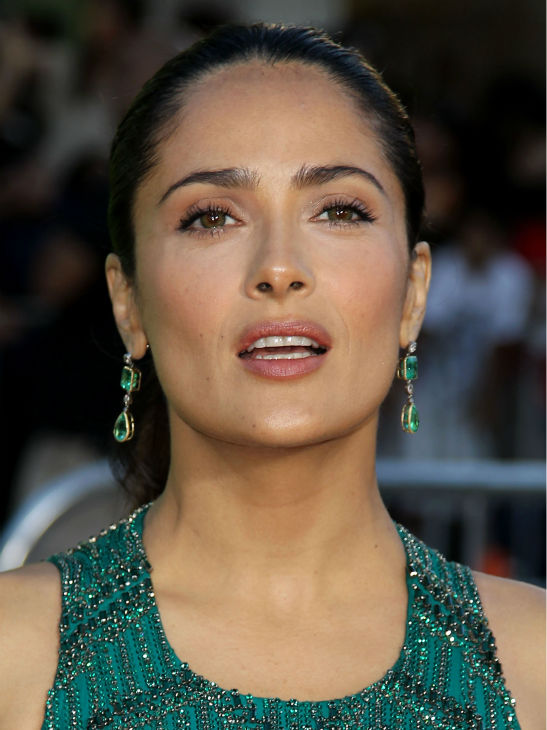 Cast member Salma Hayek attends the premiere of 'Savages' in Los Angeles on Monday, June 25, 2012.