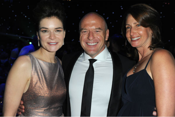 From left, &#39;Breaking Bad&#39; star Betsy Brandt &#40;Marie&#41;, co-star Dean Norris &#40;Hank&#41; and a guest are seen at the Emmy Awards 2013 Governors Ball after the 65th Primetime Emmy Awards in Los Angeles on Sept. 22, 2013. <span class=meta>(Richard Shotwell &#47; Invision &#47; AP)</span>