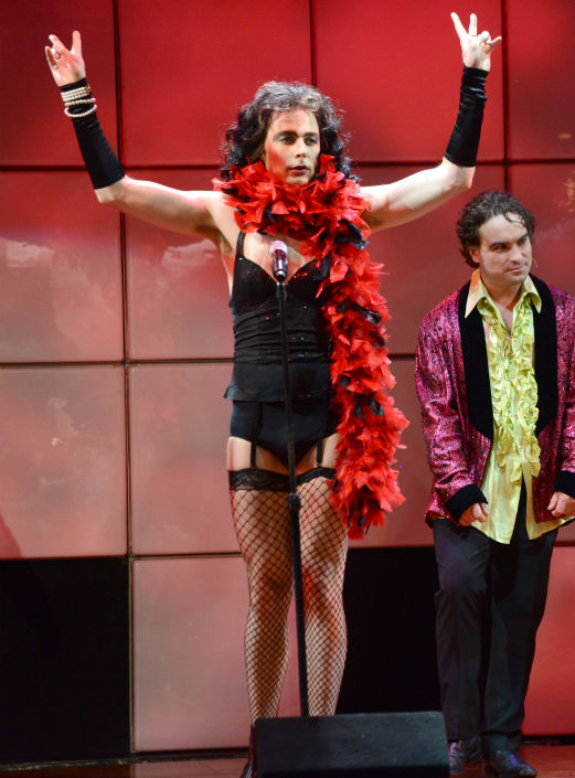 'The Big Bang Theory' actor Jim Parsons performs 'The Time Warp' from 'The Rocky Horror Picture Show' at the 21st Annual 'A Night at Sardi's'