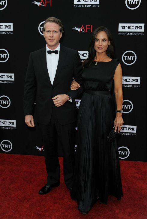 Cary Elwes, at left, and his wife, Lisa Marie Kubikoff, walk the red carpet at the American Film Institute&#39;s 41st Lifetime Achievement Gala, honoring Mel Brooks, at the Dolby Theatre in Los Angeles on Thursday, June 6, 2013. Elwes played Robin Hood in Brooks&#39; 1993 comedy film &#39;Robin Hood: Men In Tights.&#39; The actor is best known for his role as Westley in the 1987 movie &#39;The Princess Bride.&#39; <span class=meta>(Katy Winn &#47; Invision &#47; AP)</span>