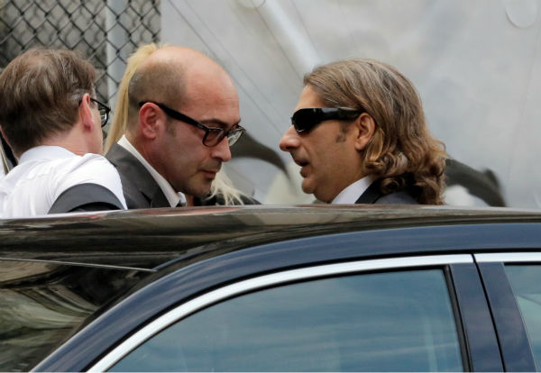 "<div class=""meta ""><span class=""caption-text "">Actors John Ventimiglia, left, and Michael Imperioli arrive for the funeral service of James Gandolfini in New York on June 27, 2013. Gandolfini, who played Tony Soprano in the HBO show 'The Sopranos,' died at age 51 while vacationing in Italy. Ventimiglia played Artie Bucco and Imperiolli portrayed Christopher Moltisanti in the series. (AP Photo / Richard Drew)</span></div>"