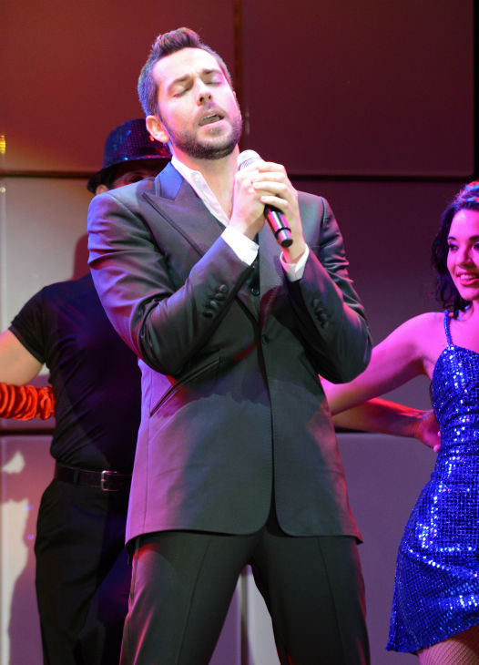 Actor Zachary Levi performs at the 21st Annual 'A Night at Sardi's' to benefit the Alzheimer's Association at th