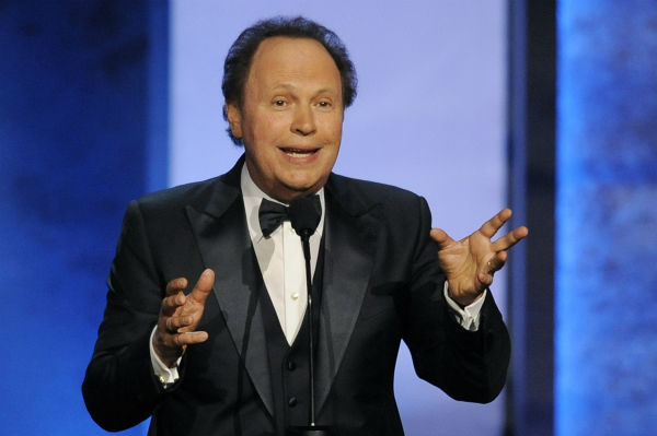 Billy Crystal addresses the audience at the American Film Institute&#39;s 41st Lifetime Achievement Award Gala, honoring Mel Brooks, at the Dolby Theatre in Los Angeles on Thursday, June 6, 2013. <span class=meta>(Chris Pizzello &#47; Invision &#47; AP)</span>