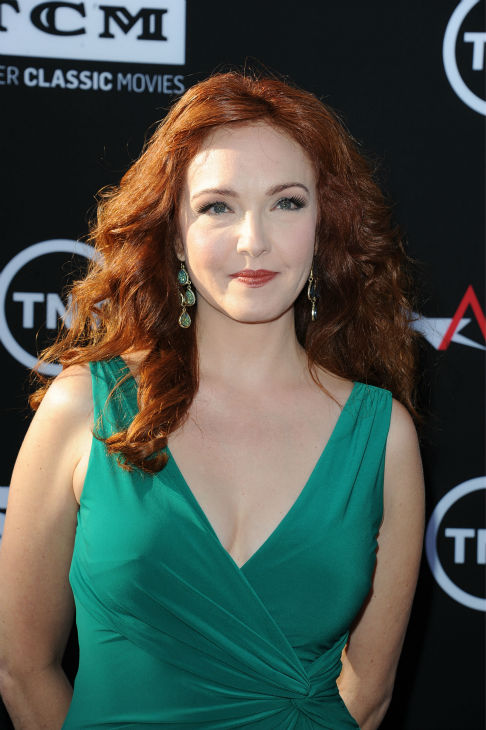 Amy Yasbeck walks the red carpet at the American Film Institute&#39;s 41st Lifetime Achievement Gala, honoring Mel Brooks, at the Dolby Theatre in Los Angeles on Thursday, June 6, 2013. Yasbeck, the widow of John Ritter, played Marian in Brooks&#39; 1993 comedy film &#39;Men In Tights.&#39; <span class=meta>(Katy Winn &#47; Invision &#47; AP)</span>