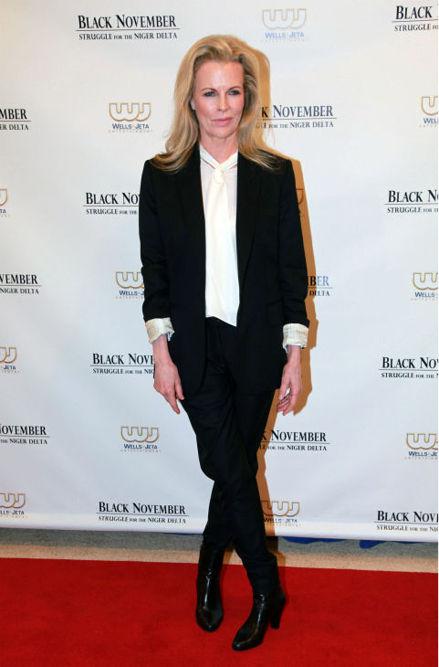 Kim Basinger attends the premiere of the film, 'Black November' at the United Nations Headquarters on Sept. 26, 2012. The film stars Basinger, Mickey Rourke, Anne Heche, Wyclef Jean and Akon and chronicles the turmoil of an unending oil spill in the Niger