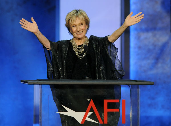 Actress Cloris Leachman gestures to honoree Mel Brooks in the audience during the American Film Institute&#39;s 41st Lifetime Achievement Award Gala at the Dolby Theatre in Los Angeles on Thursday, June 6, 2013. <span class=meta>(Chris Pizzello &#47; Invision &#47; AP)</span>