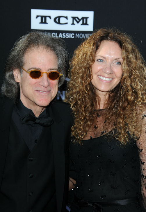 Comedian and actor Richard Lewis and his wife, Joyce Lapinsky walk the red carpet at the American Film Institute&#39;s 41st Lifetime Achievement Gala, honoring Mel Brooks, at the Dolby Theatre in Los Angeles on Thursday, June 6, 2013. Lewis played Prince John in Brooks&#39; 1993 comedy film &#39;Men In Tights.&#39; <span class=meta>(Katy Winn &#47; Invision &#47; AP)</span>