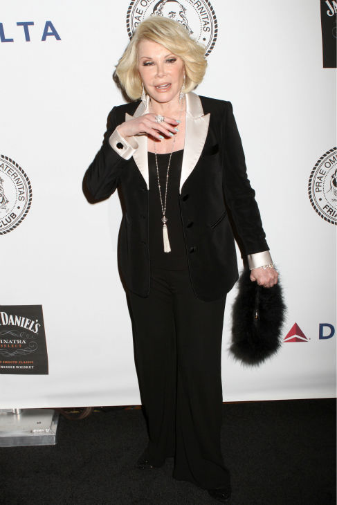 Comedienne Joan Rivers poses for photos at at the Friars Club event honoring legendary insult comic Don Rickles, 87, at the Waldorf Astoria in New York on Monday, June 24, 2013. <span class=meta>(Greg Allen &#47; Invision &#47; AP)</span>