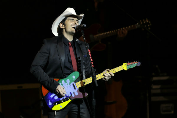 Brad Paisley performs during the Inaugural Ball at the Washignton convention center during the 57th Presidential Inauguration in Washington on Jan. 21, 2013. <span class=meta>(AP Photo &#47; Paul Sancya)</span>