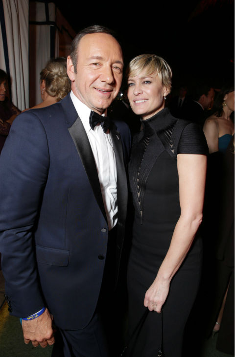 &#39;House of Cards&#39; stars and Emmy nominees Kevin Spacey and Robin Wright appear at an Emmy Awards 2013 post-show party, hosted by Netflix, in Los Angeles on Sept. 22, 2013. <span class=meta>(Eric Charbonneau &#47; Invision for Netflix &#47; AP Images)</span>