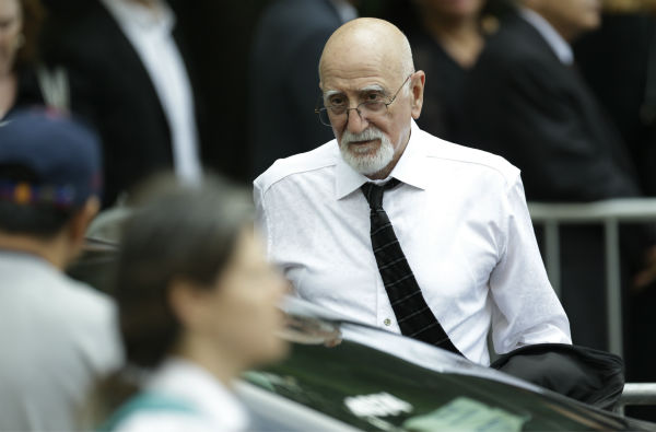 Actor Dominic Chianese arrives for the funeral service of James Gandolfini in New York on June 27, 2013. Gandolfini, who played Tony Soprano in the HBO show &#39;The Sopranos,&#39; died at age 51 while vacationing in Italy. Chianese played Junior Soprano in the series. <span class=meta>(AP Photo &#47; Julio Cortez)</span>