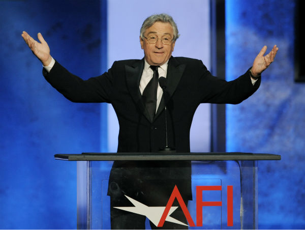 Robert De Niro addresses the audience during the American Film Institute&#39;s 41st Lifetime Achievement Award Gala, honoring Mel Brooks, at the Dolby Theatre in Los Angeles on Thursday, June 6, 2013. <span class=meta>(Chris Pizzello &#47; Invision &#47; AP)</span>