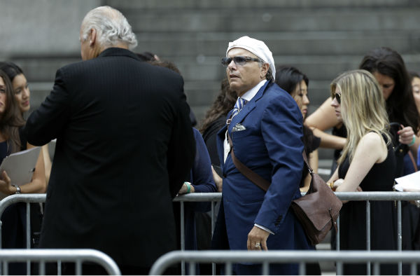 Joe Pantoliano arrives for the funeral service of James Gandolfini in New York on June 27, 2013. Gandolfini, who played Tony Soprano in the HBO show &#39;The Sopranos,&#39; died at age 51 while vacationing in Italy. Pantoliano played Ralph Cifaretto in the series. <span class=meta>(AP Photo &#47; Julio Cortez)</span>