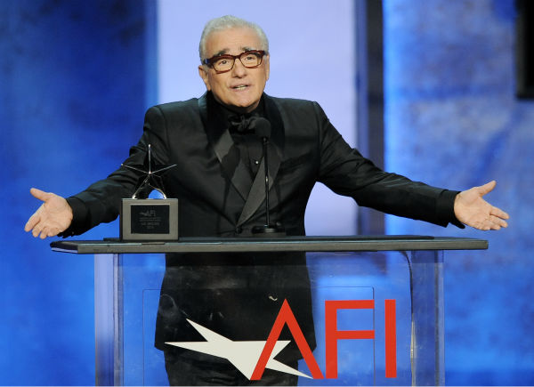"<div class=""meta image-caption""><div class=""origin-logo origin-image ""><span></span></div><span class=""caption-text"">Director Martin Scorsese addresses the audience during the American Film Institute's 41st Lifetime Achievement Award Gala, honoring Mel Brooks, at the Dolby Theatre in Los Angeles on Thursday, June 6, 2013 in Los Angeles. (Chris Pizzello / Invision / AP)</span></div>"