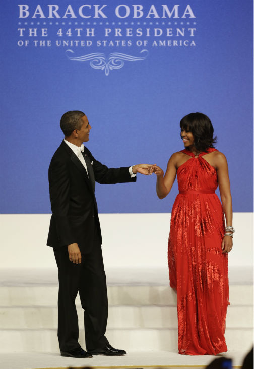 President Barack Obama and First Lady Michelle Obama dance at the Commander-in-Chief&#39;s Inaugural Ball at the 57th Presidential Inauguration in Washington on Jan. 21, 2013. <span class=meta>(AP Photo &#47; Jacquelyn Martin)</span>
