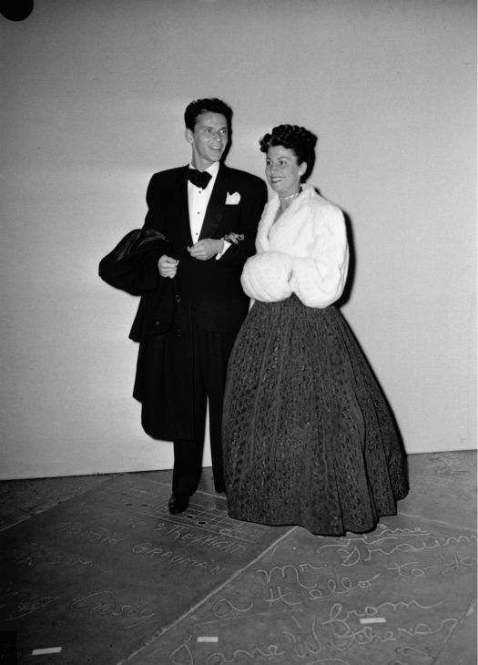 Frank Sinatra and his wife, Nancy, appear in Hollywood, California on March 7, 1946, at the presentation of Motion Picture Arts and Sciences Academy Awards. <span class=meta>(AP Photo)</span>