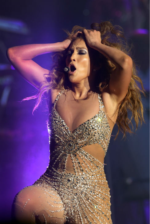 Jennifer Lopez performs on stage in Singapore during the Asian leg of her J Lo Dance Again World Tour 2012 on Tuesday, Dec. 4, 2012. This marked her first performance in the country. <span class=meta>(AP Photo &#47; Wong Maye-E)</span>
