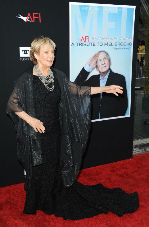 "<div class=""meta image-caption""><div class=""origin-logo origin-image ""><span></span></div><span class=""caption-text"">Cloris Leachman walks the red carpet at the American Film Institute's 41st Lifetime Achievement Gala, honoring Mel Brooks, at the Dolby Theatre in Los Angeles on Thursday, June 6, 2013. (Katy Winn / Invision / AP)</span></div>"