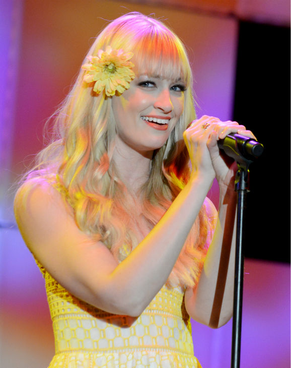 Beth Behrs ('2 Broke Girls') performs at 'A Night at Sardi's' benefit for the Alzheimer's Association at the Beverly Hilton Hotel on March