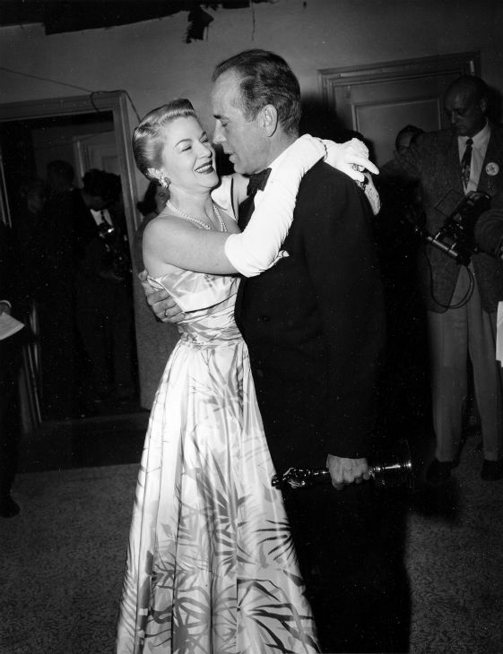 "<div class=""meta ""><span class=""caption-text "">Clair Trevor, left, congratulates Oscar winner Humphrey Bogart at the 1951 Academy Awards presentations in Hollywood, California on March 20, 1952. Bogart won best actor for his performance in 'African Queen.' (AP Photo)</span></div>"