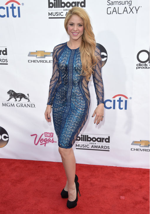 Shakira arrives at the Billboard Music Awards at the MGM Grand Garden Arena on Sunday, May 18, 2014, in Las Vegas. <span class=meta>(John Shearer &#47; Invision &#47; AP)</span>