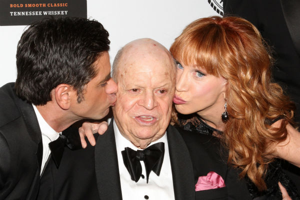 "<div class=""meta image-caption""><div class=""origin-logo origin-image ""><span></span></div><span class=""caption-text"">Actor John Stamos, honoree Don Rickles and comedienne Kathy Griffin pose for photos at the Friars Club event honoring Rickles, 87, at the Waldorf Astoria in New York on Monday, June 24, 2013. (Greg Allen / Invision / AP)</span></div>"