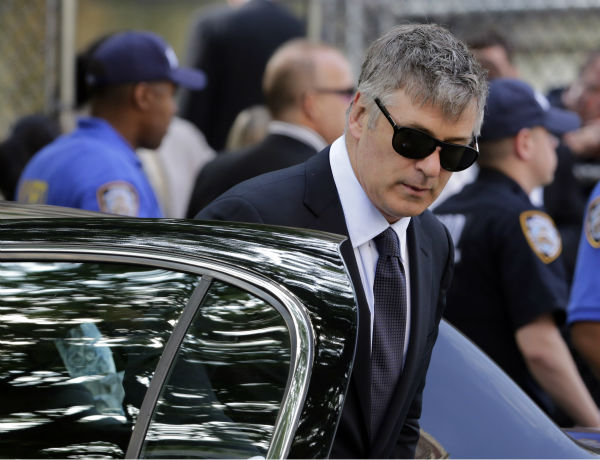 Actor Alec Baldwin arrives for the funeral service of James Gandolfini in New York on June 27, 2013. Gandolfini, who played Tony Soprano in the HBO show &#39;The Sopranos,&#39; died at age 51 while vacationing in Italy. He and Baldwin appeared together in the 1996 movie &#39;The Juror.&#39; <span class=meta>(AP Photo &#47; Richard Drew)</span>