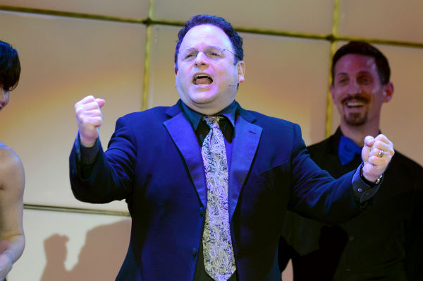 "<div class=""meta image-caption""><div class=""origin-logo origin-image ""><span></span></div><span class=""caption-text"">Jason Alexander performs at the 21st Annual 'A Night at Sardi's' to benefit the Alzheimer's Association at the Beverly Hilton Hotel on Wednesday, March 20, 2013 in Beverly Hills, California. (Jordan Strauss / Invision for Alzheimer's Association / AP Images)</span></div>"