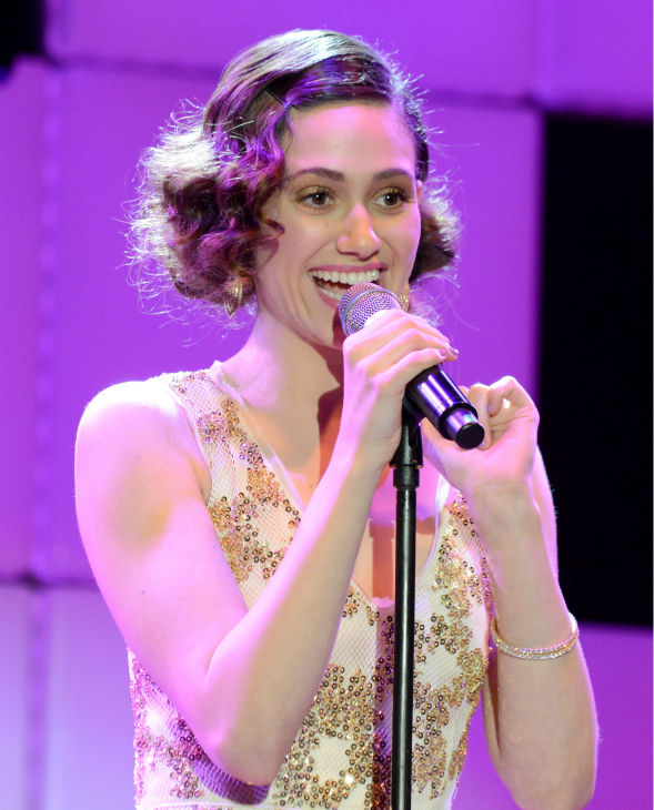 Emmy Rossum performs at 'A Night at Sardi's' benefit for the Alzheimer's Association at the Beverly Hilton Hotel on M