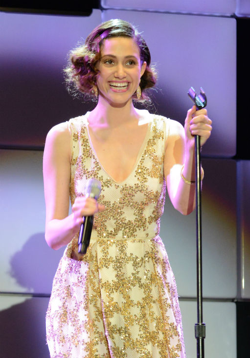 Emmy Rossum performs at the 21st annual 'A Night at Sardi's' benefit