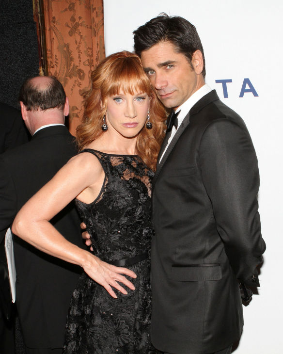 Comedienne Kathy Griffin and actor John Stamos pose for photos at the Friars Club event honoring legendary insult comic Don Rickles, 87, at the Waldorf Astoria in New York on Monday, June 24, 2013. <span class=meta>(Greg Allen &#47; Invision &#47; AP)</span>