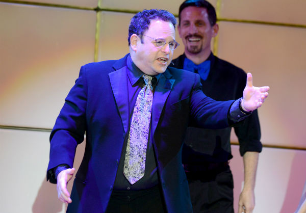 "<div class=""meta image-caption""><div class=""origin-logo origin-image ""><span></span></div><span class=""caption-text"">Jason Alexander performs at the 21st annual 'A Night at Sardi's' benefit for the Alzheimer's Association at the Beverly Hilton Hotel on March 20, 2013. (Jordan Strauss / Invision for Alzheimer's Association / AP Images)</span></div>"