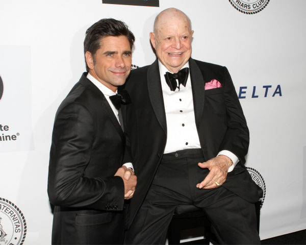 "<div class=""meta image-caption""><div class=""origin-logo origin-image ""><span></span></div><span class=""caption-text"">Actor John Stamos and honoree Don Rickles pose for photos at the Friars Club event honoring the 87-year-old legendary insult comic at the Waldorf Astoria in New York on Monday, June 24, 2013. (Greg Allen / Invision / AP)</span></div>"