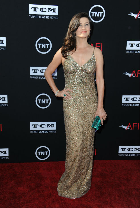 Daphne Zuniga walks the red carpet at the American Film Institute&#39;s 41st Lifetime Achievement Gala, honoring Mel Brooks, at the Dolby Theatre in Los Angeles on Thursday, June 6, 2013. Zuniga played Princess Vespa in Brooks&#39; 1987 comedy film &#39;Spaceballs.&#39; She is also known for her role as Jo in the original &#39;Melrose Place&#39; drama series. <span class=meta>(Katy Winn &#47; Invision &#47; AP)</span>