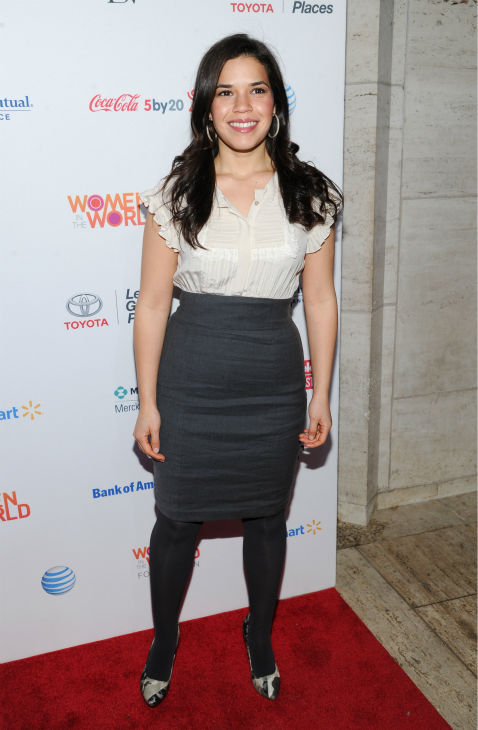 America Ferrera &#40;&#39;Ugly Betty&#39;&#41; attends the 4th annual Women in the World Summit at the David H. Koch Theater on April 4, 2013 in New York. <span class=meta>(Evan Agostini &#47; Invision &#47; AP)</span>