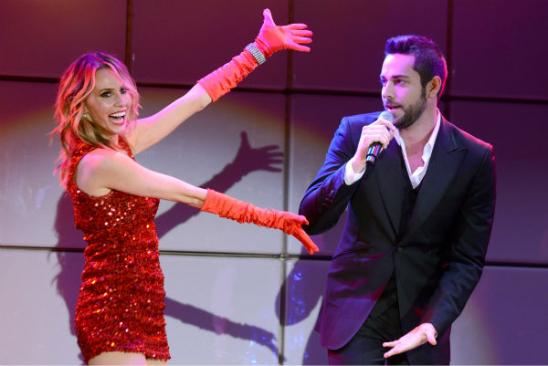 Zachary Levi, right, and Keltie Colleen perform at the 21st annual &#39;A Night at Sardi&#39;s&#39; benefit for the Alzheimer&#39;s Association at the Beverly Hilton Hotel on March 20, 2013. <span class=meta>(Jordan Strauss &#47; Invision for Alzheimer&#39;s Association &#47; AP Images)</span>