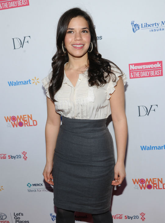 "<div class=""meta image-caption""><div class=""origin-logo origin-image ""><span></span></div><span class=""caption-text"">America Ferrera ('Ugly Betty') attends the 4th annual Women in the World Summit at the David H. Koch Theater on April 4, 2013 in New York. (Evan Agostini / Invision / AP)</span></div>"
