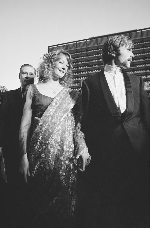 Vanessa Redgrave, one of the nominees for best actress category, arrives at the Music Center with Italian actor Franco Nero for the annual Academy Awards ceremonies in Hollywood on April 14, 1969. Miss Redgrave was nominated for her role in the picture &#39;Isadora.&#39; <span class=meta>(AP Photo)</span>