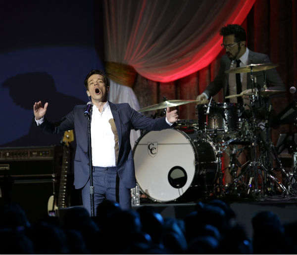 Fun. performs during the Inaugural Ball at the Washignton convention center during the 57th Presidential Inauguration in Washington on Jan. 21, 2013. <span class=meta>(AP Photo &#47; Paul Sancya)</span>