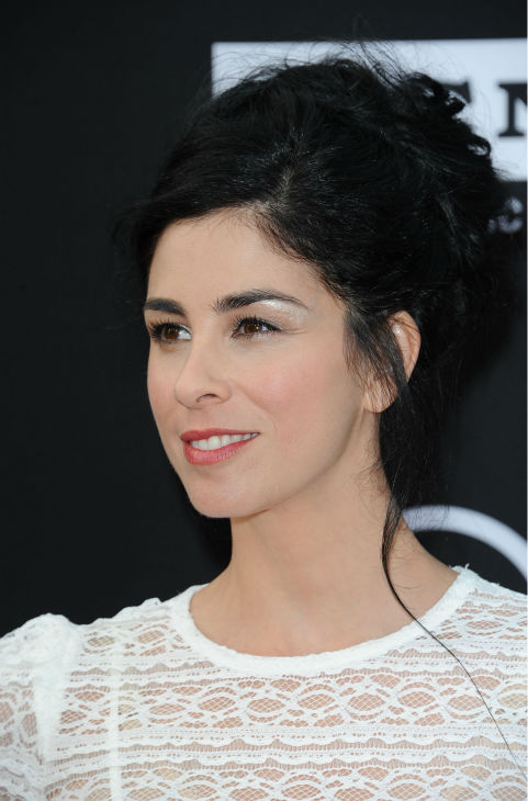 Sarah Silverman walks the red carpet at the American Film Institute&#39;s 41st Lifetime Achievement Gala, honoring Mel Brooks, at the Dolby Theatre in Los Angeles on Thursday, June 6, 2013. <span class=meta>(Katy Winn &#47; Invision &#47; AP)</span>