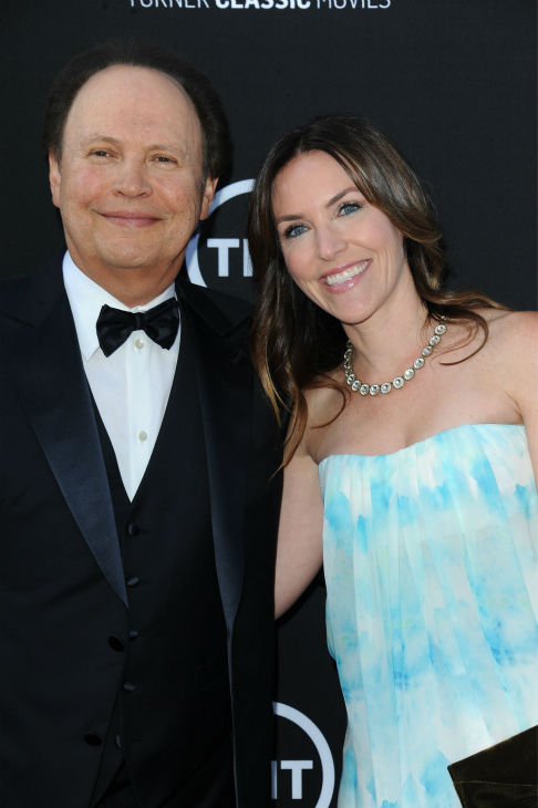 Billy Crystal, at left, and his daughter, Jennifer Foley, walk the red carpet at the American Film Institute&#39;s 41st Lifetime Achievement Gala, honoring Mel Brooks, at the Dolby Theatre in Los Angeles on Thursday, June6, 2013. <span class=meta>(Katy Winn &#47; Invision &#47; AP)</span>