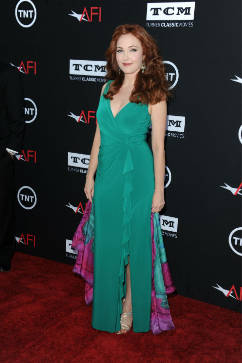 "<div class=""meta ""><span class=""caption-text "">Amy Yasbeck walks the red carpet at the American Film Institute's 41st Lifetime Achievement Gala, honoring Mel Brooks, at the Dolby Theatre in Los Angeles on Thursday, June 6, 2013. Yasbeck, the widow of John Ritter, played Marian in Brooks' 1993 comedy film 'Men In Tights.' (Katy Winn / Invision / AP)</span></div>"