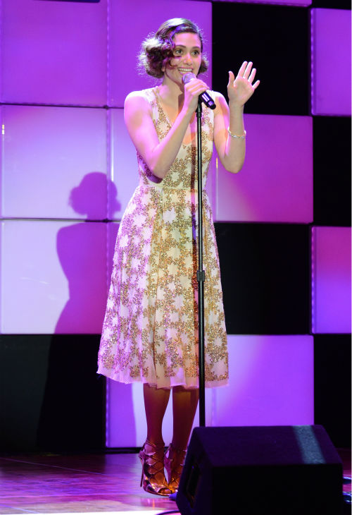 Emmy Rossum performs at 'A Night at Sardi's' benefit for the Alzheimer's Association at the Beverly Hil
