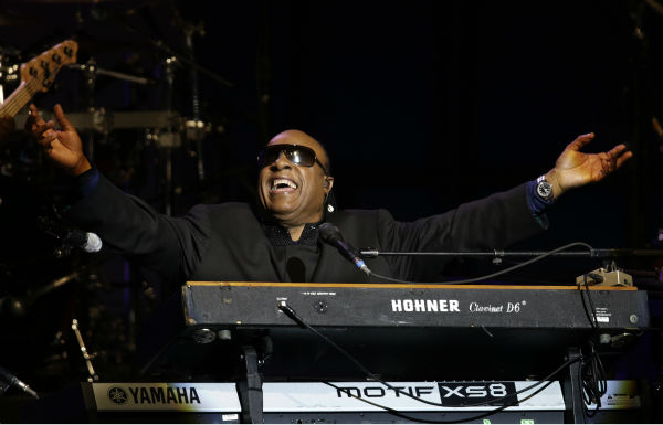 Stevie Wonder performs during the Inaugural Ball...
