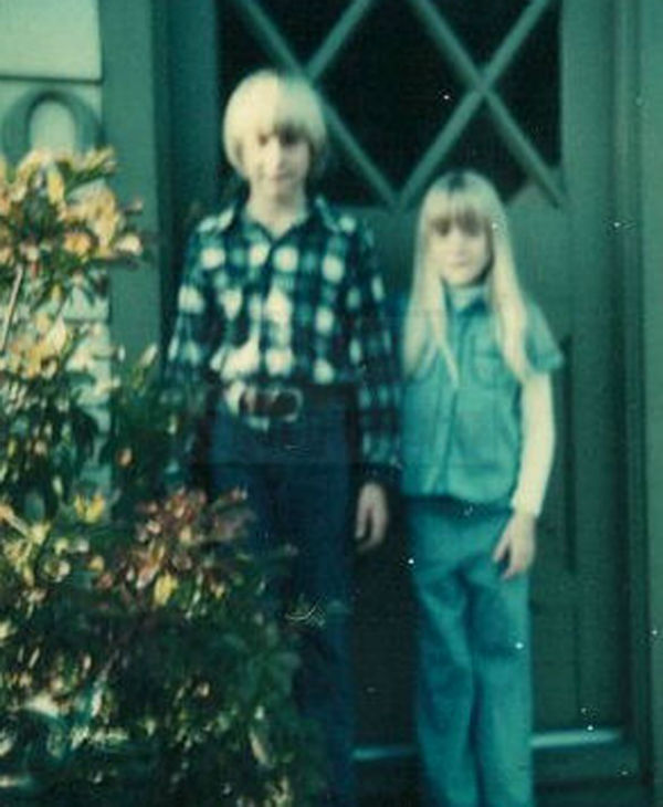 This undated photo provided by Kim Cobain, Kurt Cobain's sister, shows a young Kurt Cobain, left, and Kim in their childhood home in Aberdeen, Washington.