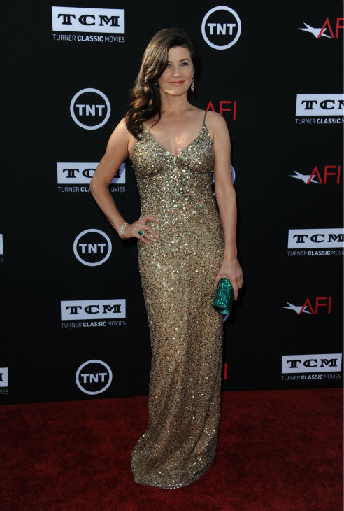 "<div class=""meta ""><span class=""caption-text "">Daphne Zuniga walks the red carpet at the American Film Institute's 41st Lifetime Achievement Gala, honoring Mel Brooks, at the Dolby Theatre in Los Angeles on Thursday, June 6, 2013. Zuniga played Princess Vespa in Brooks' 1987 comedy film 'Spaceballs.' She is also known for her role as Jo in the original 'Melrose Place' drama series. (Katy Winn / Invision / AP)</span></div>"