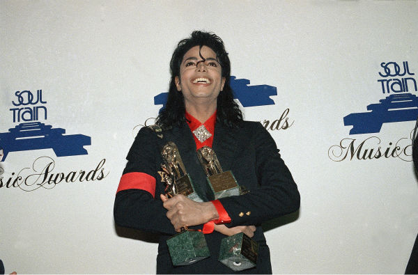 "<div class=""meta ""><span class=""caption-text "">Michael Jackson holds his four awards at the 1989 Soul Train Music Awards in Los Angeles on April 12, 1989. (AP Photo / Douglas C. Pizac)</span></div>"