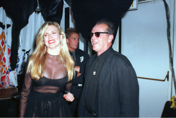 Kim Basinger and Jack Nicholson are shown at a party after the world premiere of 'Batman' in Westwood Village in Los Angeles, California on June 20, 1989.